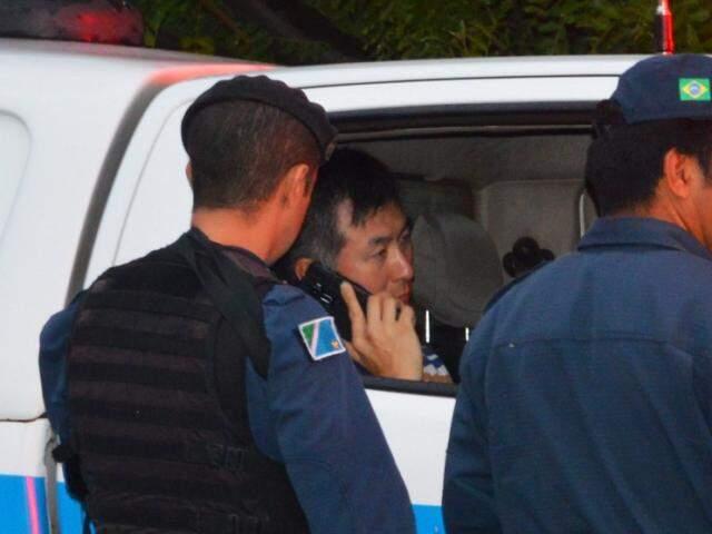 Hyun Su Moon só foi preso em flagrante após ir para a delegacia (Foto: Simão Nogueira)