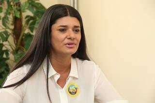 Rose é candidata a prefeita e participa de nova rodada de entrevista no Campo Grande News. (Foto: Marcos Ermínio)
