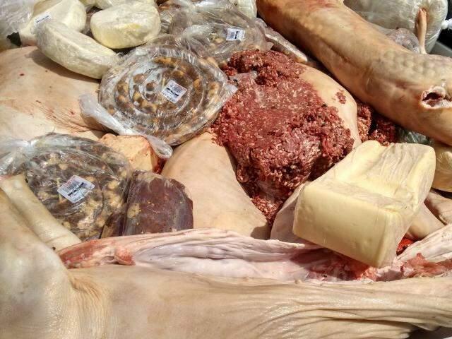 Este ano foram apreendidos mais de 15 toneladas de carne este ano. (Foto: Divulgação Polícia Civil)