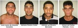 Quadrilha foi presa após último roubo em Dourados (Foto: Divulgação)