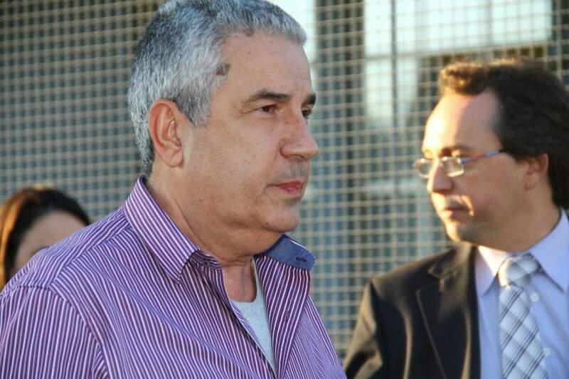João Amorim não quis falar com a imprensa ao deixar a sede da PF nesta quinta (Foto: Marcos Ermínio)
