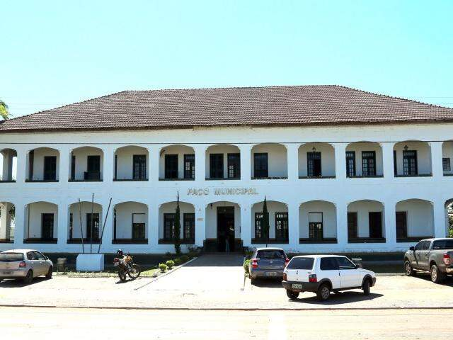 Prefeitura de Bela Vista, na fronteira com o Paraguai (Foto: João Carlos Velasquez)