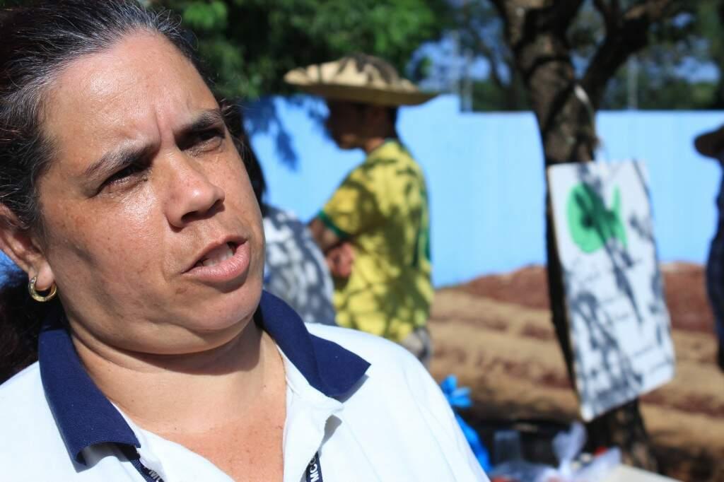 Agente comunitária de saúde, Marta Helena Baller. (Foto: Marina Pacheco)