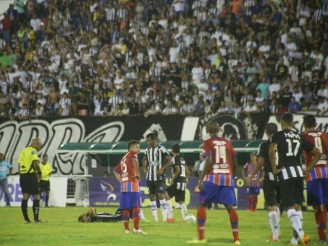 Operário goleou União por 4 a 0 e agradou a torcida que compareceu ao Morenão (Foto: Marcos Ermínio)