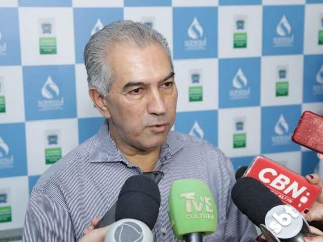 O governador Reinaldo Azambuja falou sobre matéria que o Fantástico leva ao ar neste domingo, (Foto: Kísie Ainoã)