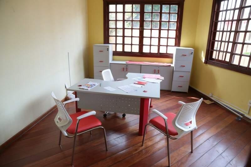 Sala administrativa (Foto: Fernando Antunes)