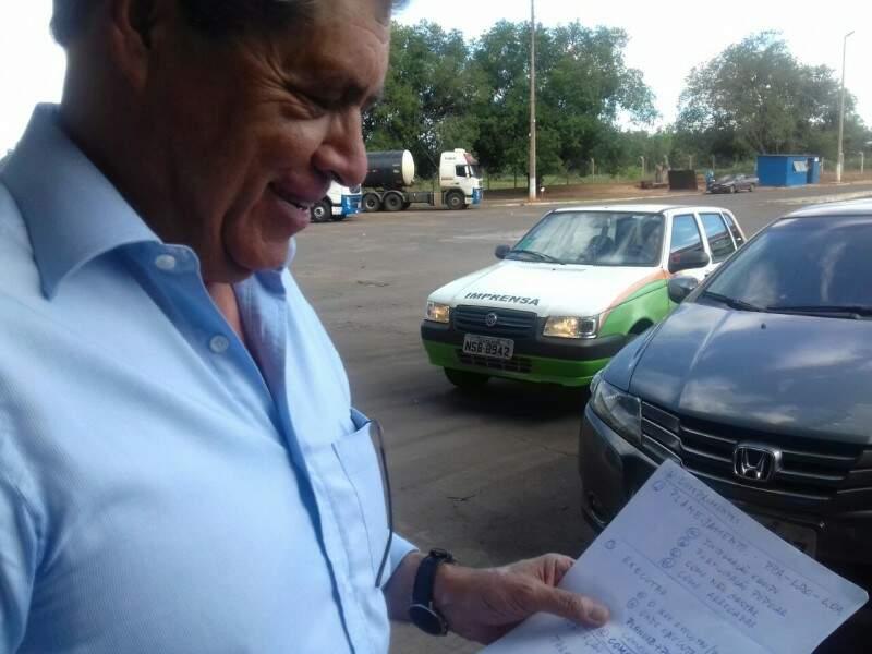 Ex-governador André Puccinelli (PMDB) listou medidas para sugerir ao prefeito eleito, Marquinhos Trad (PSD). (Foto: Mayara Bueno)