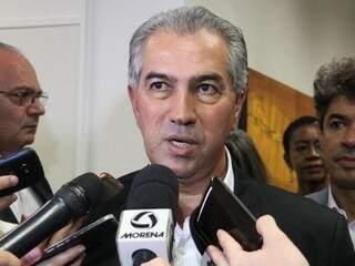 """Governador do Estado, Reinaldo Azambuja (PSDB), diz que é """"orgulho pessoal"""" governo ser nota 10 em transparência. (Foto: Chico Ribeiro/Governo do Estado)"""