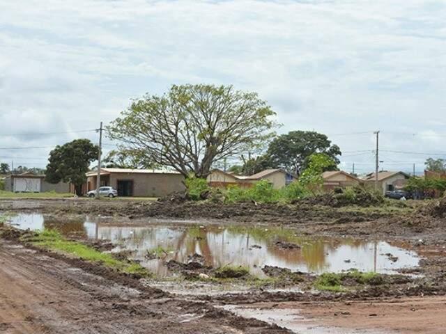 Bairro corumbaense que receberá em breve obras de pavimentação (Foto: Ricardo Albertoni/ Diário Corumbaense)