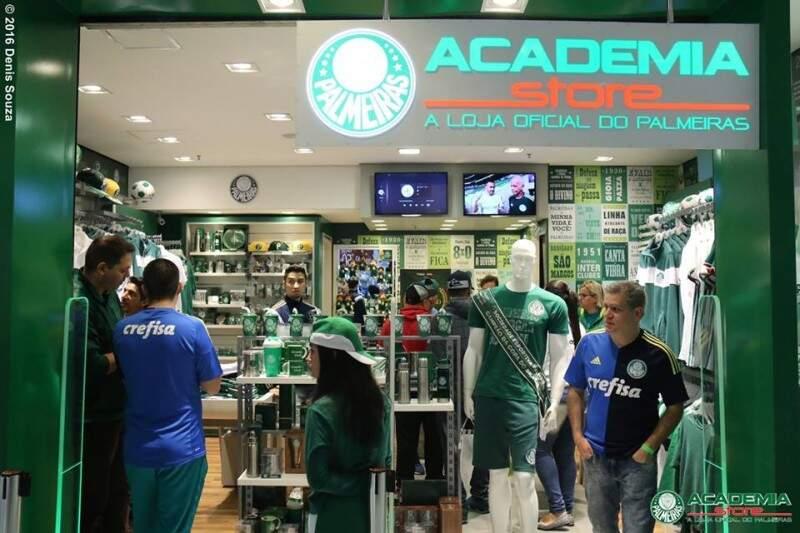 Plano de expansão prevê primeira loja oficial do Palmeiras em Campo Grande (Foto: Divulgação)