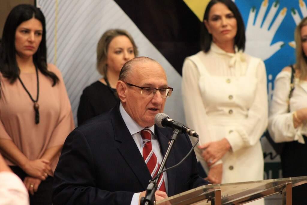 Desembargador Paschoal Carmello Leandro, presidente do TJMS (Foto: Marina Pacheco)