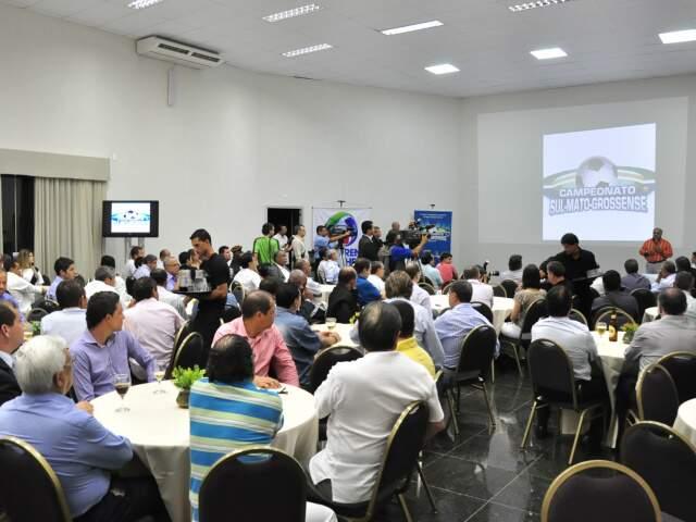 Lançamento do Campeonato Estadual e parceria para a transmissão foram comemorados com festa só para convidados (Foto: João Garrigó)