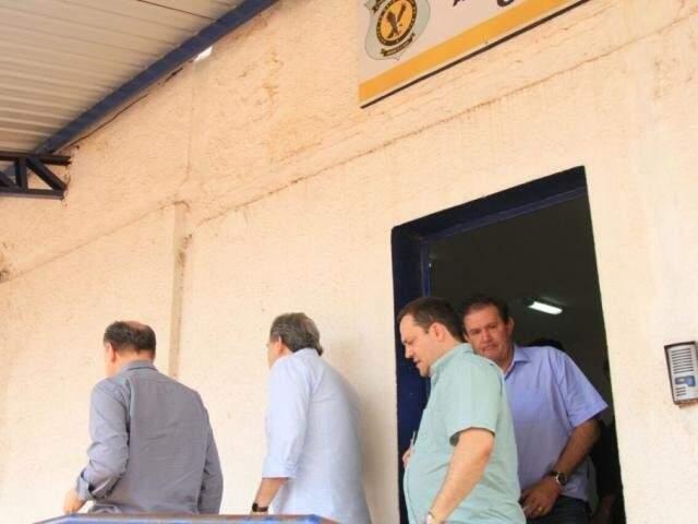 Lideranças do MDB, após reunião no Centro de Triagem (Foto/Arquivo: Marina Pacheco)