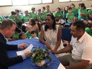 Alunos estavam esperançosos com o casamento em sala de aula. (Foto: Assessoria TJMS)