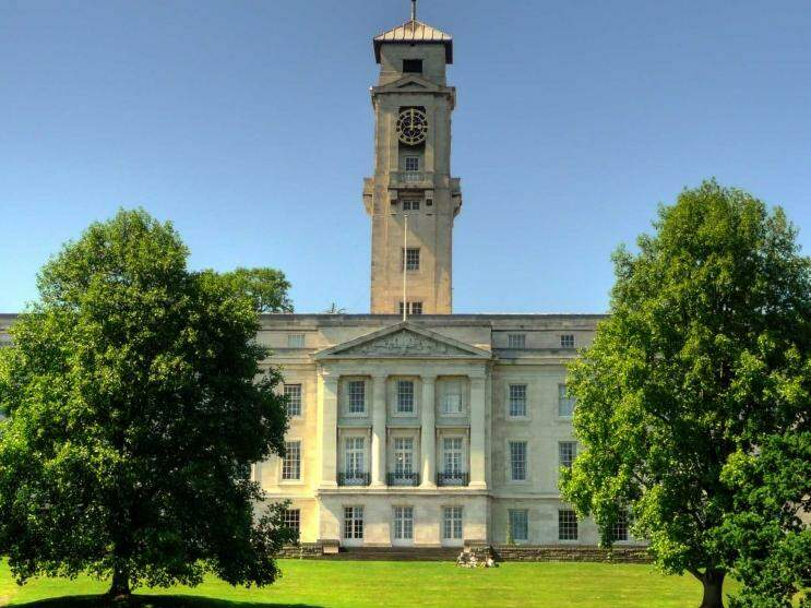 Campus da Universidade de Nottingham na Inglaterra (Foto: Divulgação)