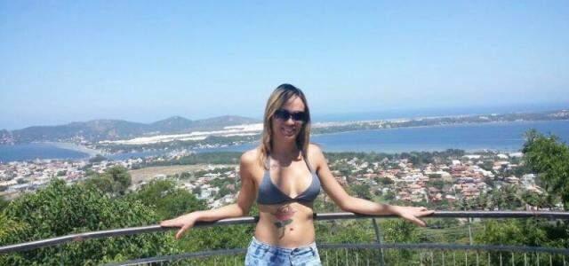 Nicole em Florianópolis. (Foto: Arquivo Pessoal)