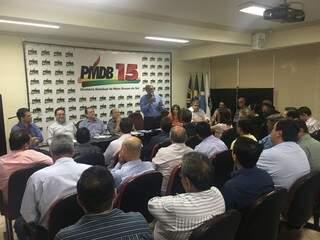 Reunião do PMDB para apresentação das bancadas federal e estadual (Foto: divulgação)