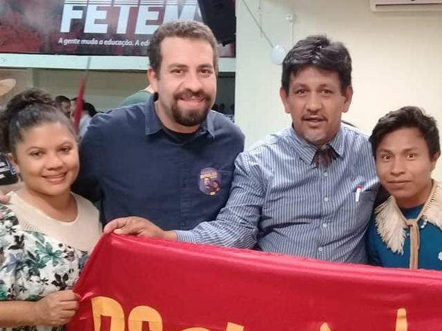 Anísio Guató (3º na foto), candidato do Psol ao Senado, informou R$ 60 em patrimônio. (Foto: Reprodução)