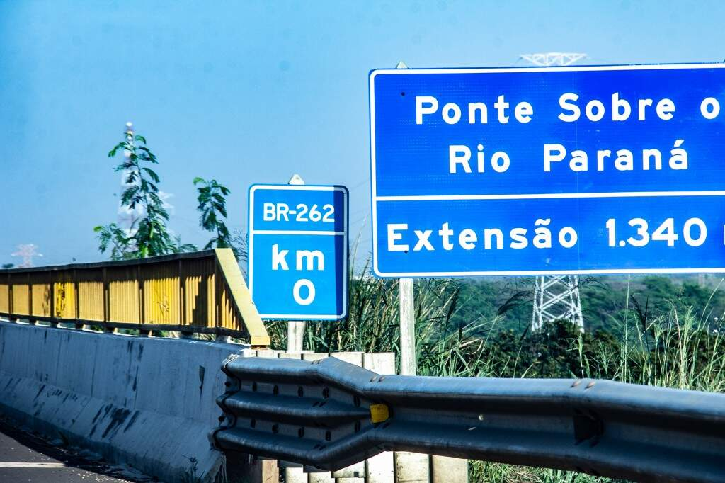 Marco zero da BR-262 é na divisa de São Paulo com Mato Grosso do Sul. (Foto: Kisie Ainoã)