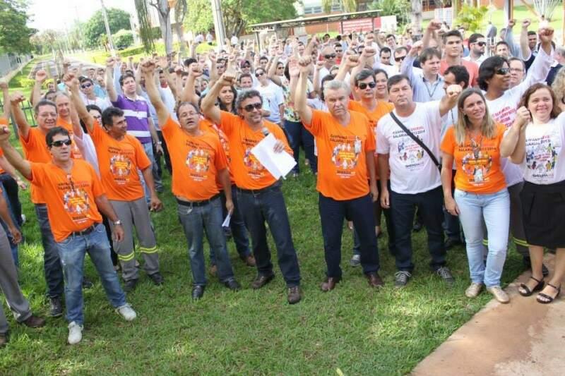 Funcionários vão protestar contra proposta da Energisa. (Foto: Divulgação/Sinergia)