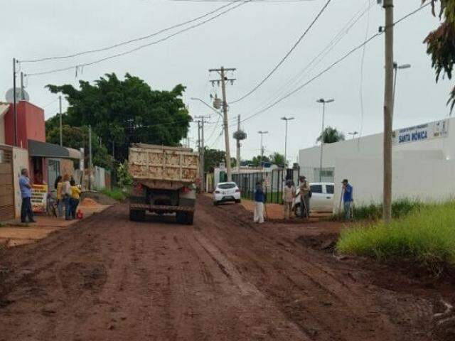 Rua foi recuperada nesta segunda-feira (Foto: Divulgação/PMCG)