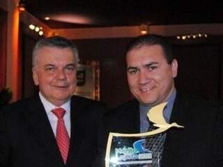 Diretores do Comper durante entrega do prêmio Mérito Lojista (Foto: Divulgação)