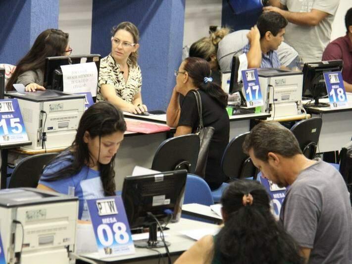 Movimento é intenso na Central do Cidadão (Foto: PMCG/Divulgação)