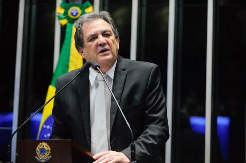 O senador Waldemir Moka comentou sobre os recursos e trabalho da bancada federal de MS (Foto: Moreira Mariz/Agência Senado)