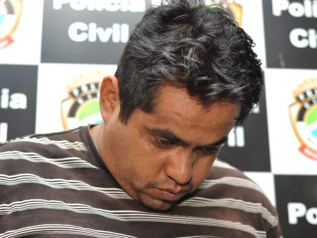Magno Santos, preso após atropelar garota de seis anos (Foto: Marlon Ganassin)