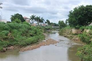 Rio Anhanduí sofre com degradação ambiental. (Foto: Alcides Neto)