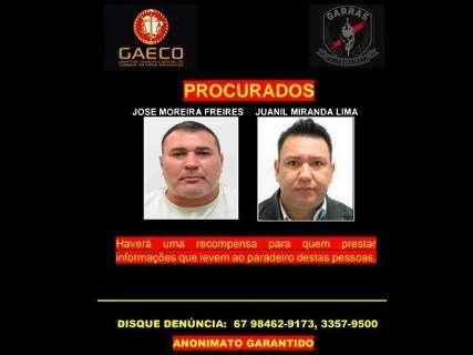Garras e Gaeco oferecem recompensa por informações sobre 2 pistoleiros