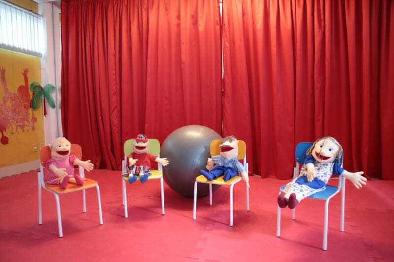 Escola tem brinquedoteca e até um teatro (Foto: Fernando Antunes)