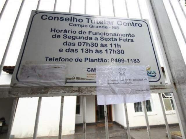 Conselho Tutelar da área central de Campo Grande (Foto: Arquivo)