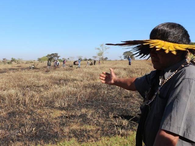 Fazenda Yvu, onde ocorreu ataque a índios, em junho (Foto: Helio de Freitas)