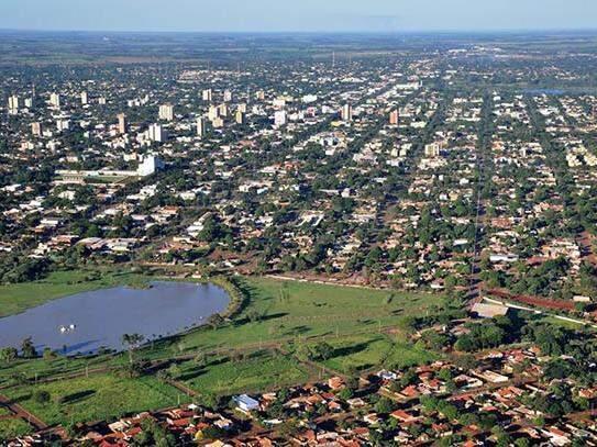 Vista aérea de Dourados (Foto: Arquivo)