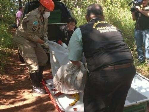 """Um dos primeiros casos do """"Tribunal do crime"""" registrados em MS aconteceu em fevereiro de 2017. O corpo de Richard Alexandre Lianho foi encontrado na região do Céuzinho (Foto: Adriano Fernandes)"""