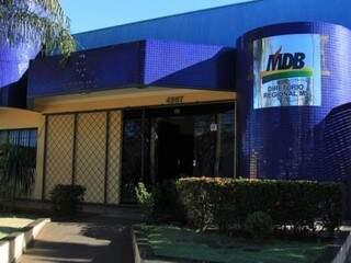 Sede do diretório do MDB, em Campo Grande. na manhã desta segunda-feira (dia 13). (Foto: Marina Pacheco).