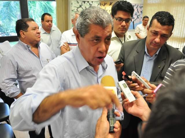 Puccinelli afirma que não vai interferir na escolha do substituto de Marcelo Miranda. (Foto: João Garrigó)