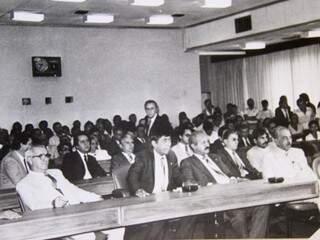 Sessão da primeira legislatura da Assembleia (Foto: Reprodução/ ALMS)
