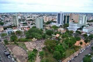Pela proximidade da região central os endinheirados fugiram do Jardim dos Estados e migraram para o Chácara Cachoeira (Foto: Arquivo)