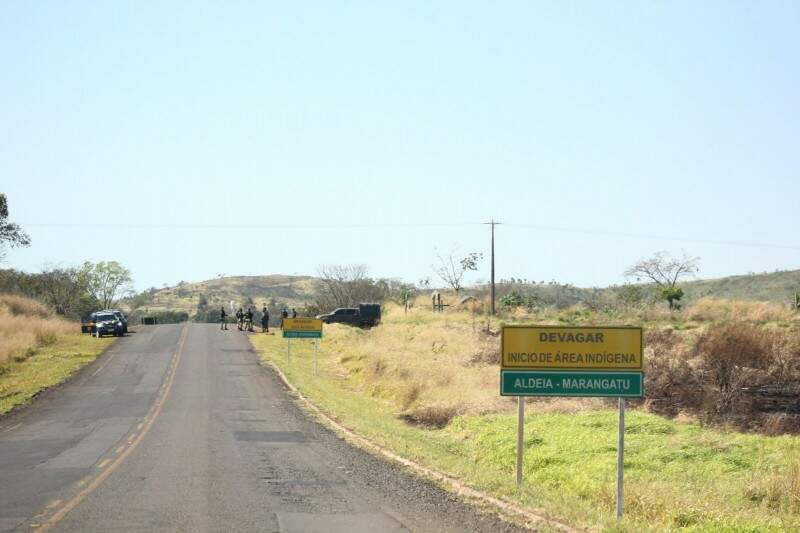 Confinados em Reserva de  26 hectares, índios reivindicam 9.317 hectares (Foto: Marcos Ermínio)