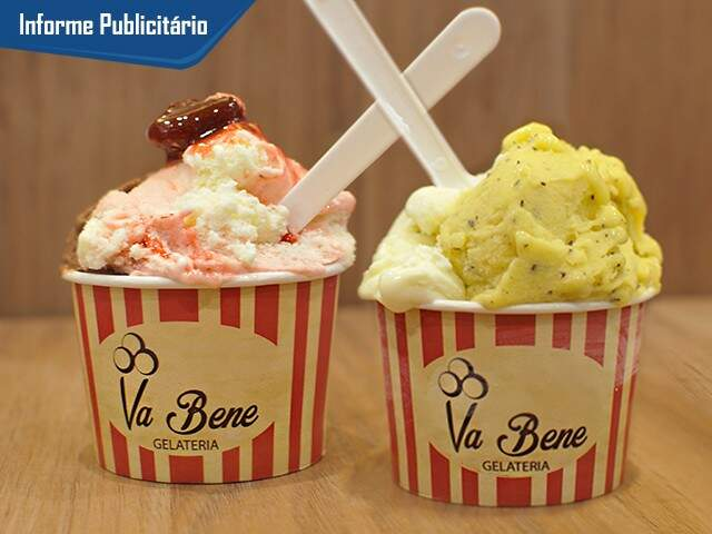 Coloridos, cremosos e muito saborosos, o gelato da Va Bene já conquistou os campo-grandenses. (Foto: Alcides Neto)
