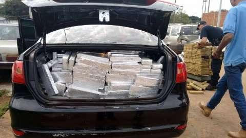 DOF apreende mais de 3 toneladas de maconha em seis carros