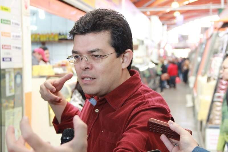 Olarte durante a visita ressaltou a questão da  duplicação da BR-163 na região de Campo Grande (Foto - Fernando Antunes)