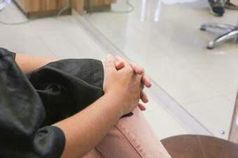 """""""Sou vítima de violência doméstica"""", disse a corretora de imóveis. (Foto: Paulo Francis)"""