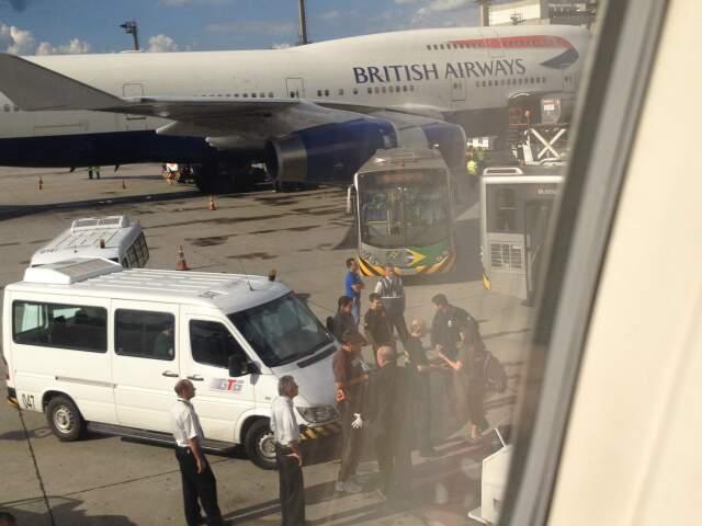 Avião retornou para São Paulo após confusão.