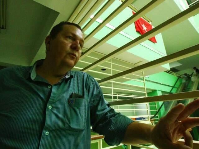 Superintende do Incra em MS, Humberto Maciel. Ele afirma manter o diálogo com manifestantes. (Foto: André Bittar)