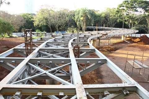 Na fase final, Aquário do Pantanal ganha contorno na parte interna