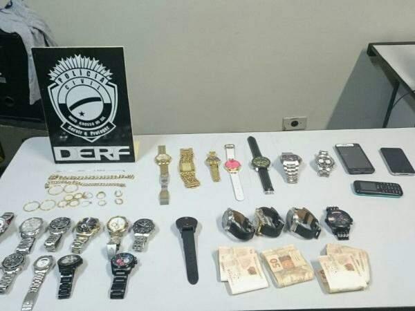 Investigação de bando levou polícia a descobrir receptador no centro (Foto: Divulgação/Derf)