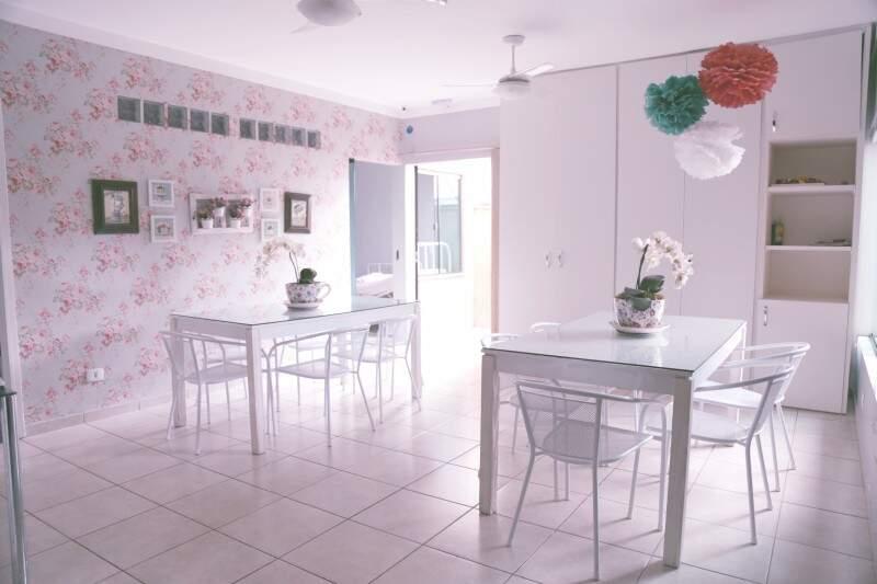 Nosso refeitório com capacidade para abrigar todos os moradores. (Foto: Fernando Antunes)